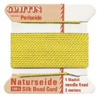 2M Griffin Silk Cord 0.6mm Bead Thread Yellow Size 04